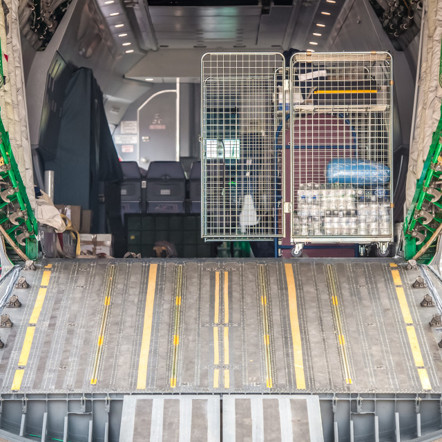 """aircraft cargo bay"" stock image"