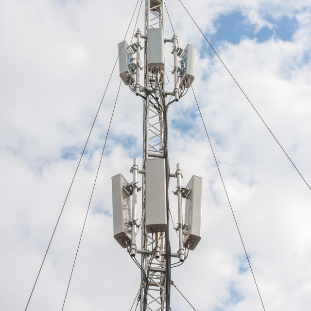 """telecommunications mast"" stock image"