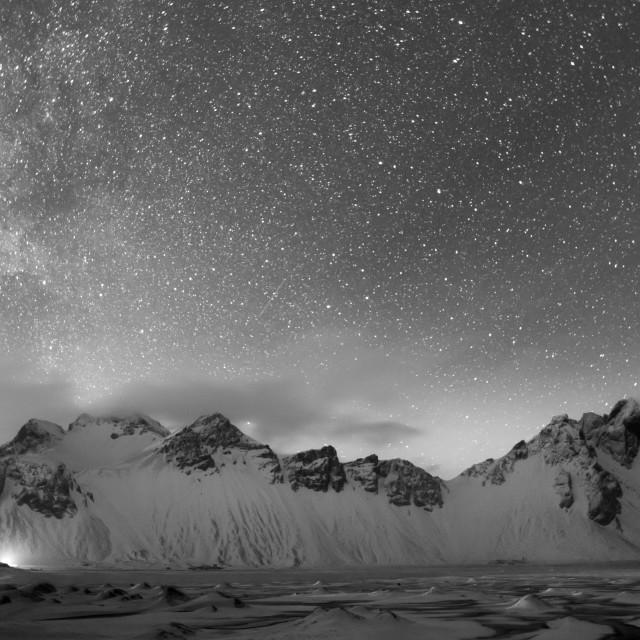 """Stars above Vestrahorn"" stock image"