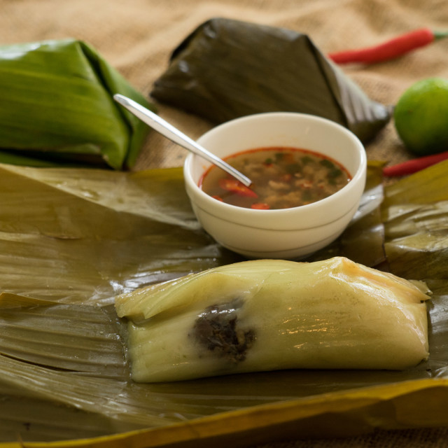 """Vietnamese rice dumpling."" stock image"