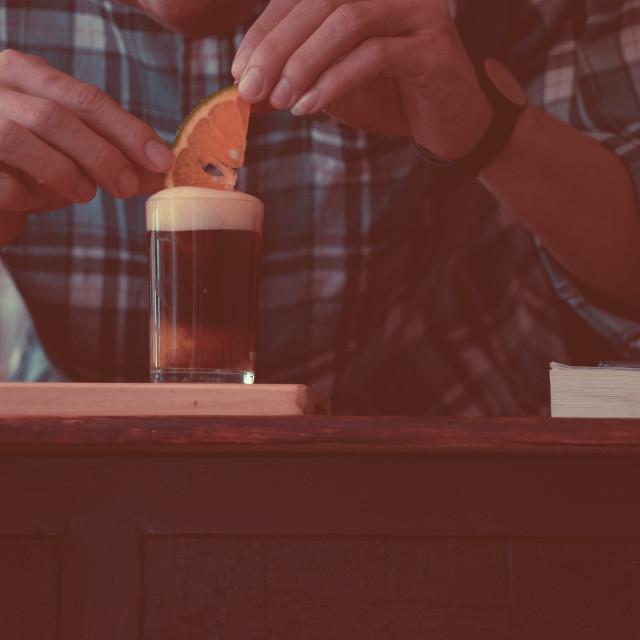 """Orange espresso."" stock image"