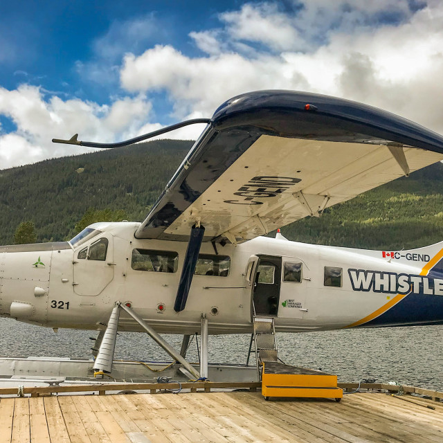 """""""De Havilland Turbine Otter aircraft operated by Whistler Air"""" stock image"""
