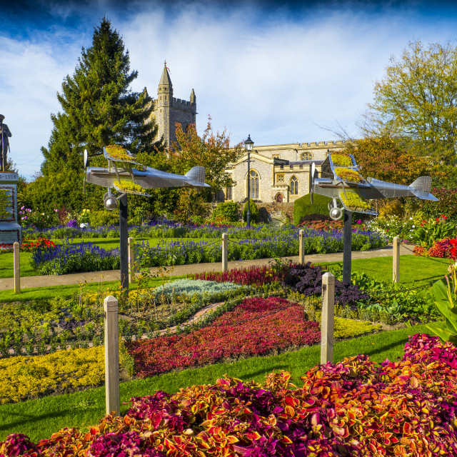 """""""Old Amersham Buckinghamshire .The towns Memorial Gardens have been..."""" stock image"""