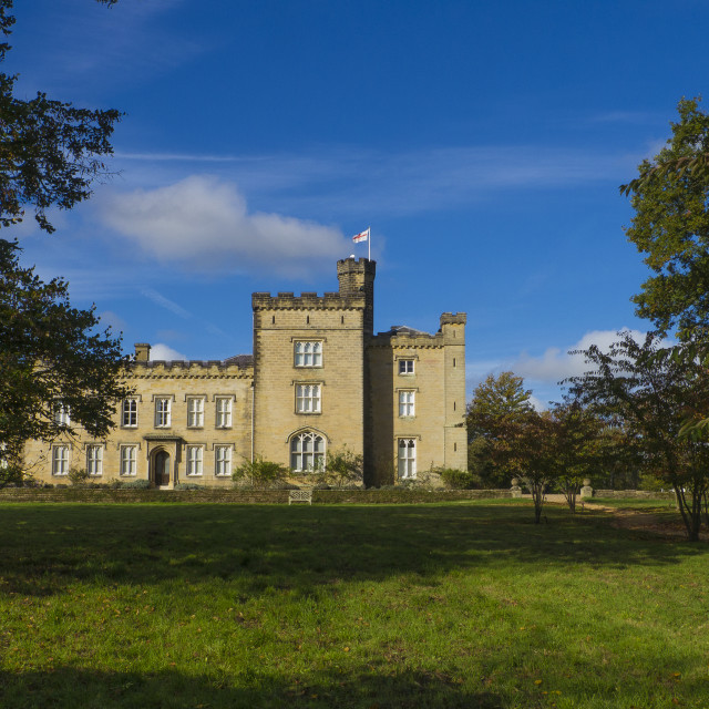 """Chiddingstone Castle,near Edenbridge, Kent, England,"" stock image"
