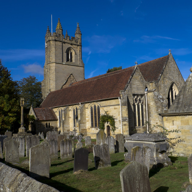 """St. Mary's Church,Chiddingstone,Kent, England"" stock image"