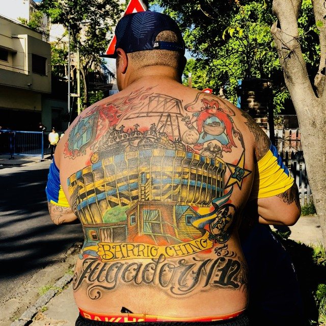 """Boca Juniors tattoo"" stock image"