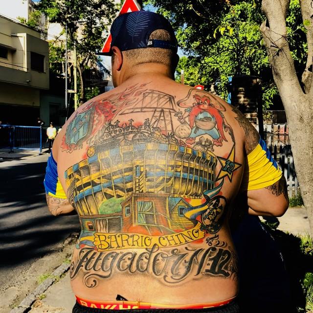"""""""Boca Juniors tattoo"""" stock image"""