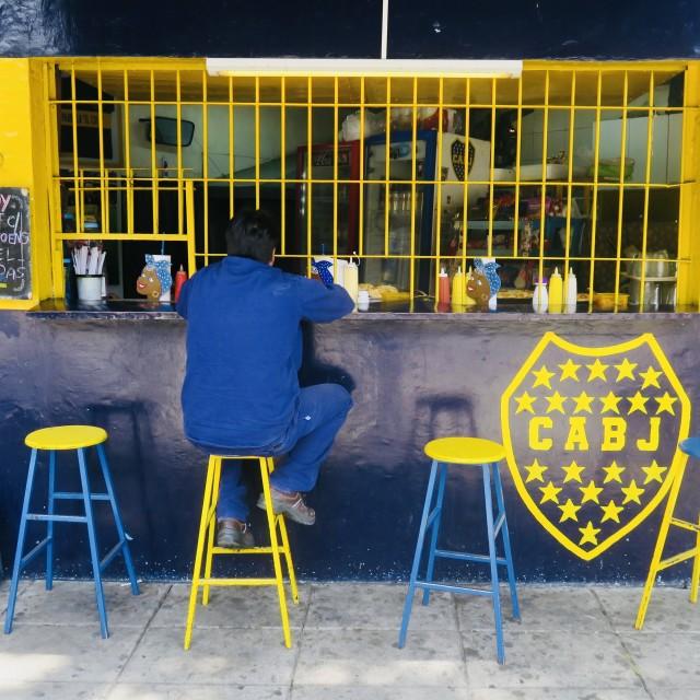 """Boca Juniors coffee break"" stock image"