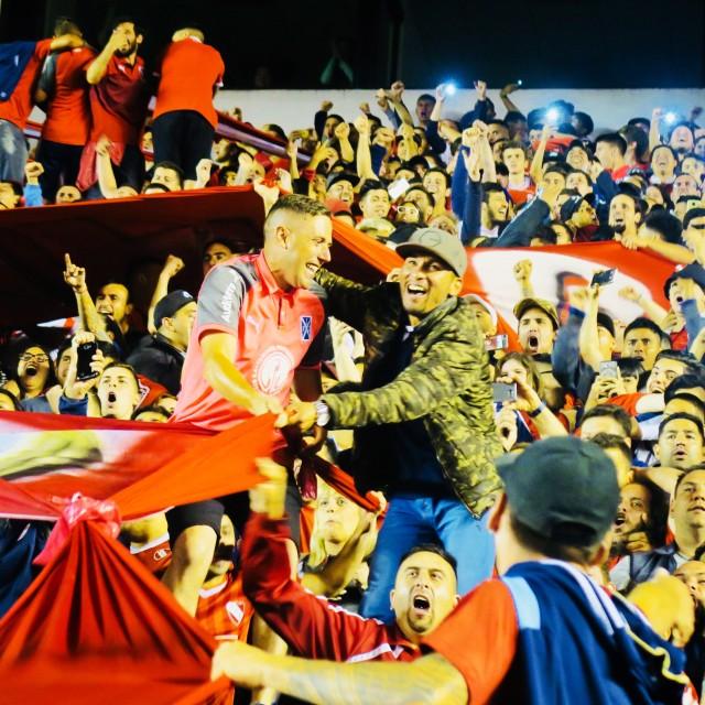 """Argentina's Barra Brava: Independiente"" stock image"
