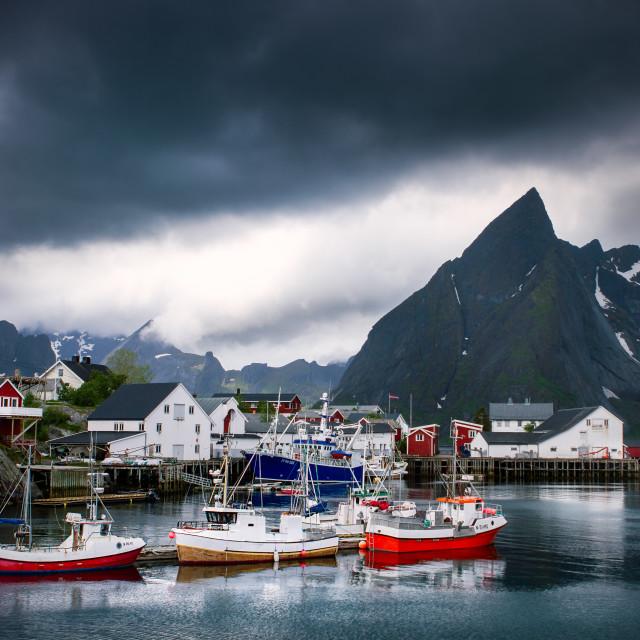 """Hamnøy on the Lofoten"" stock image"