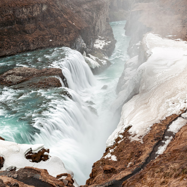 """Gullfoss waterfall in Iceland"" stock image"