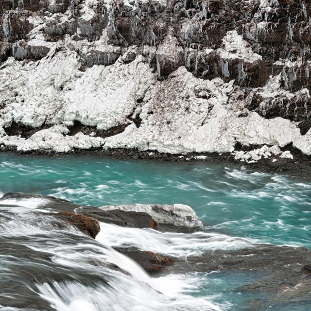 """Close up of Gullfoss waterfall, Iceland"" stock image"