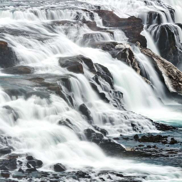 """""""Close up of Gullfoss waterfall in Iceland"""" stock image"""