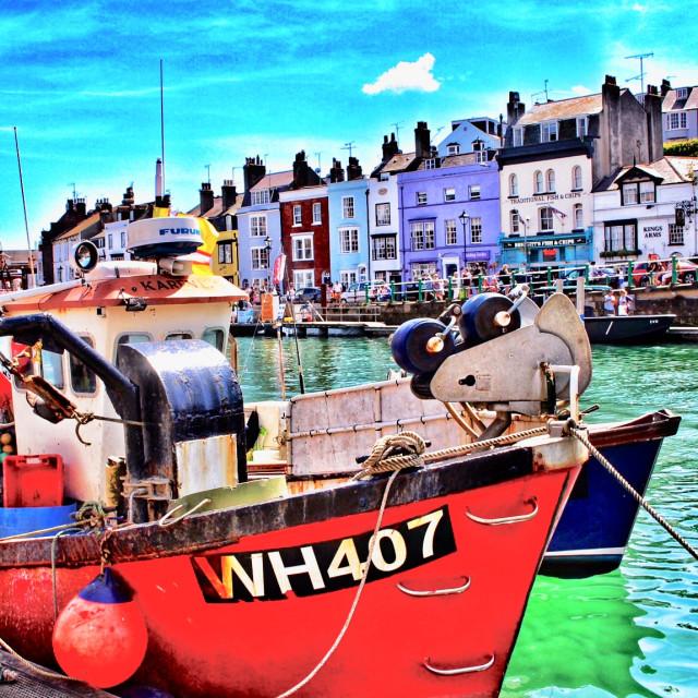 """Weymouth Quay"" stock image"