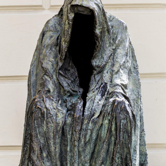 """Spooky faceless statue"" stock image"