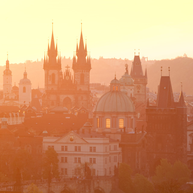 """Prague - Spires of the Old Town"" stock image"