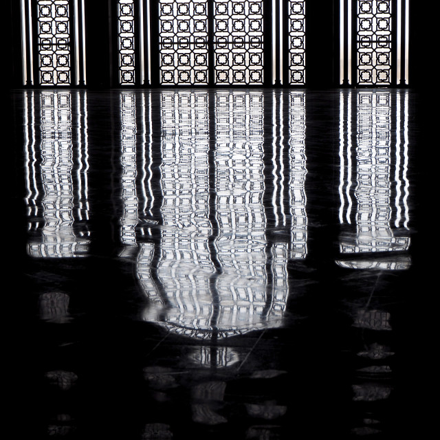 """Inside the Hassan II Mosque, Casablanca, Morocco, North Africa"" stock image"