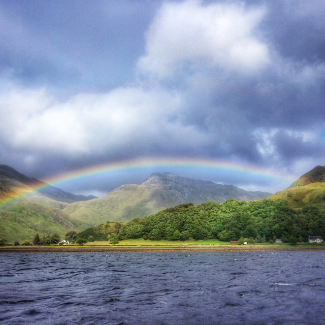 """Rainbows and Lochs"" stock image"