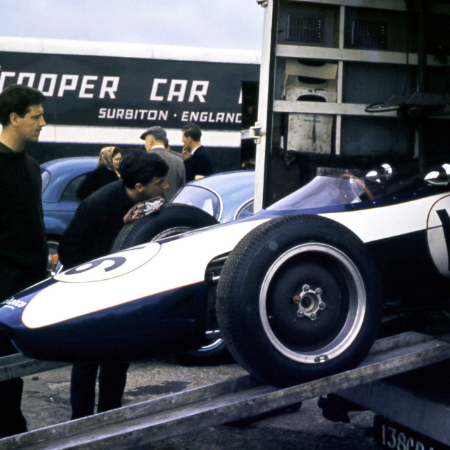 """""""Scirocco BRM Silverstone Paddock 1963"""" stock image"""