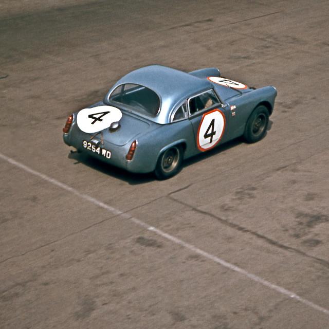 """Christabel Carlisle Healey Sprite Silverstone 1963"" stock image"