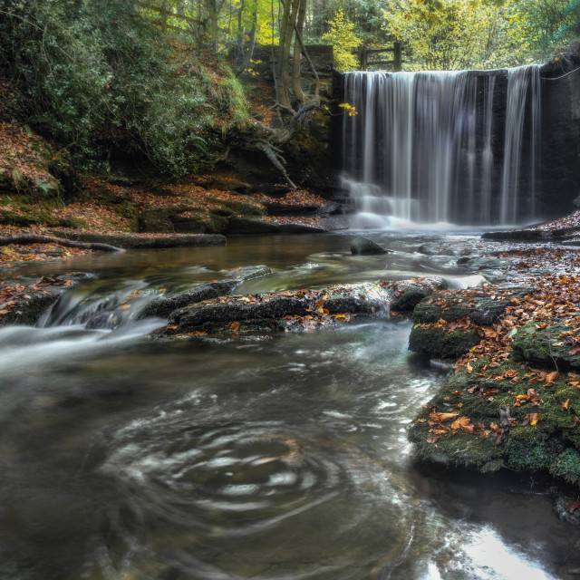 """Nant Mill waterfall"" stock image"