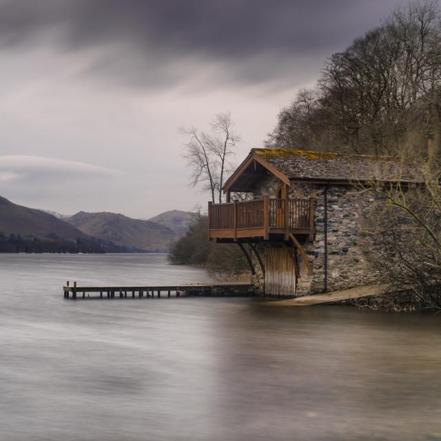 """""""The Boathouse"""" stock image"""