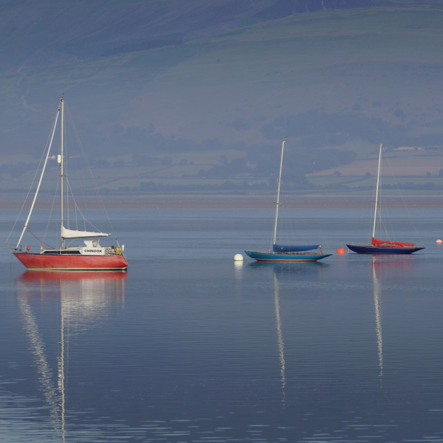 """""""Boats three In a row"""" stock image"""