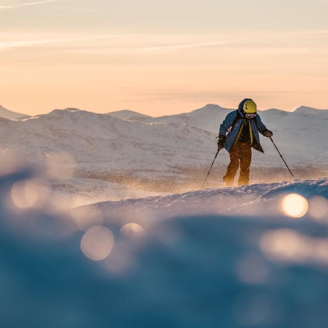 """Ski Touring"" stock image"