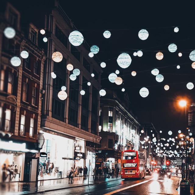 """""""London Christmas Lights"""" stock image"""
