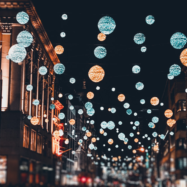 """London Christmas Lights"" stock image"