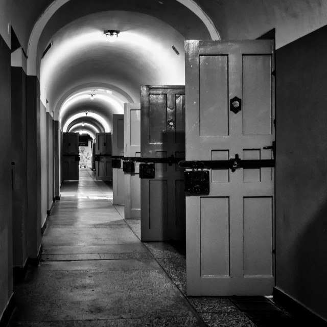"""""""Former Gestapo prison"""" stock image"""