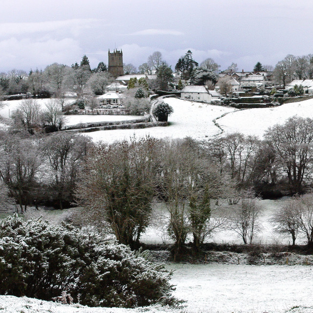 """A winter wonderland snowscene"" stock image"