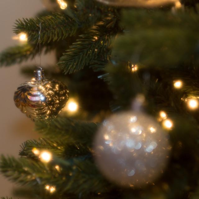 """Gold Tree Ornament"" stock image"