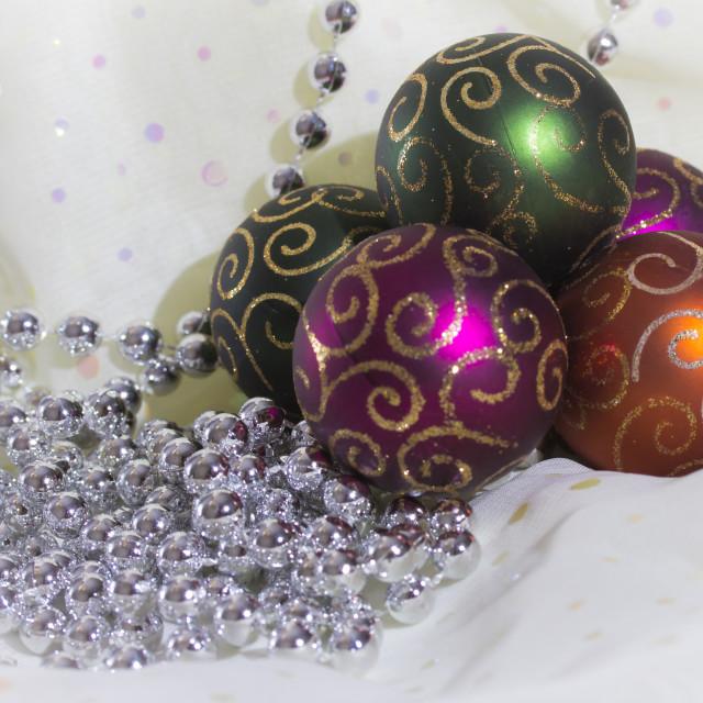 """""""Christmas Ball Ornaments"""" stock image"""
