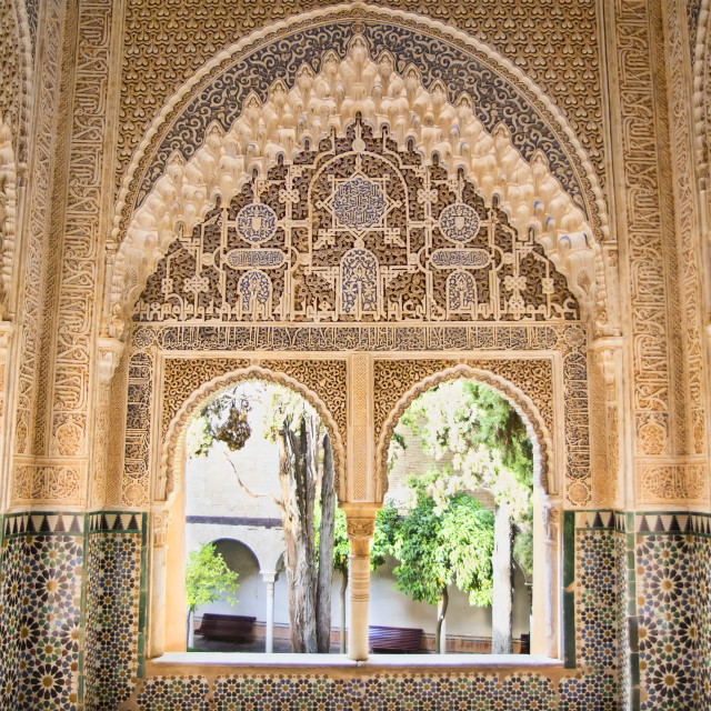 """Moorish architecture in the Alhambra of Granada"" stock image"