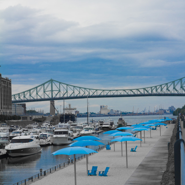 """""""Montreal in blue"""" stock image"""