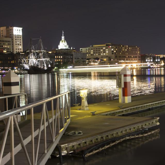 """Lights in Savannah"" stock image"