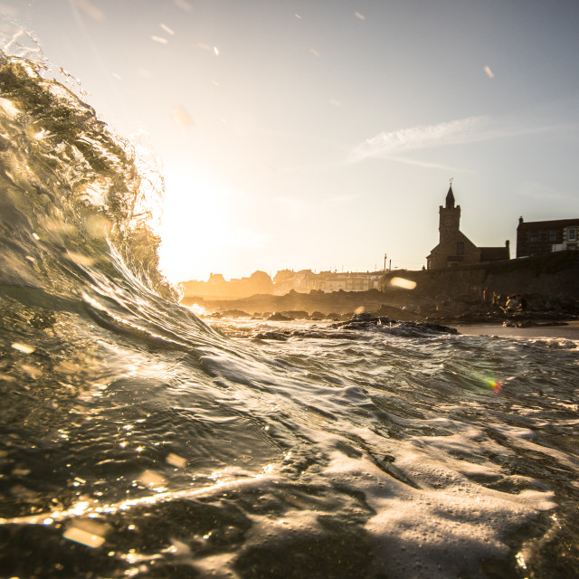 """Porthleven Beach"" stock image"