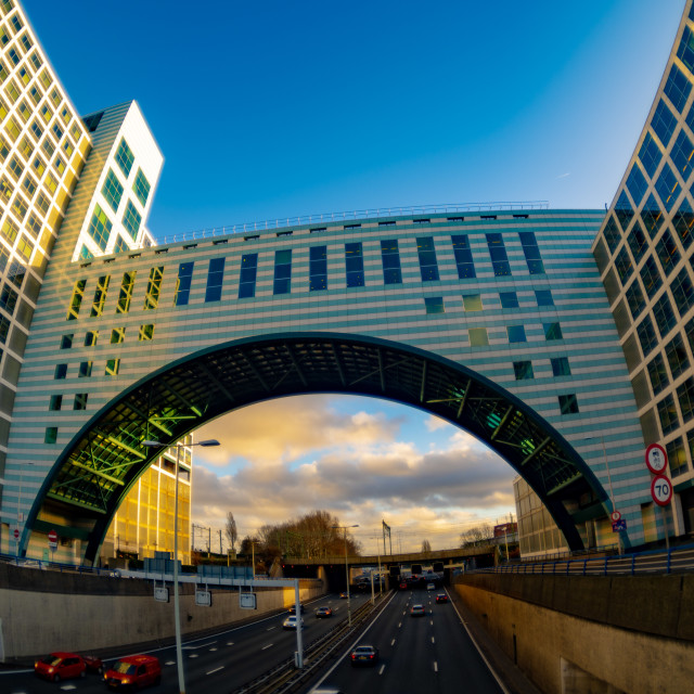 """""""Gate way to the Hague City"""" stock image"""