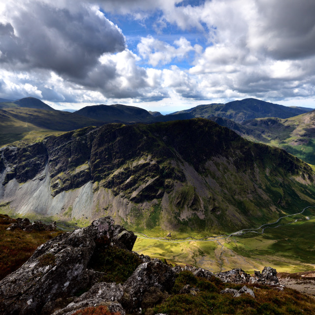 """Fleetwith Pike from Dale Head"" stock image"