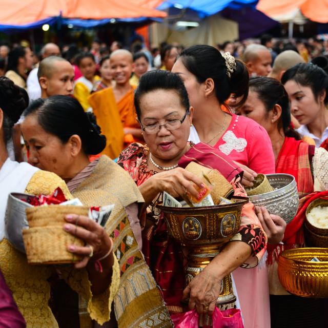 """That Luang Buddhist Festival Vientiane Laos"" stock image"