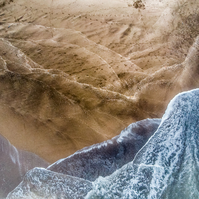 """Natural textures of sand and water"" stock image"