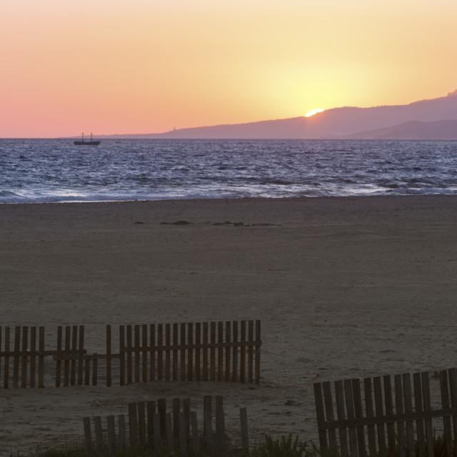 """Beach in Tarifa"" stock image"