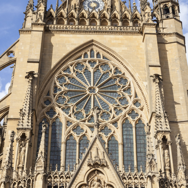 """Cathedral of Saint Stephen in Metz"" stock image"