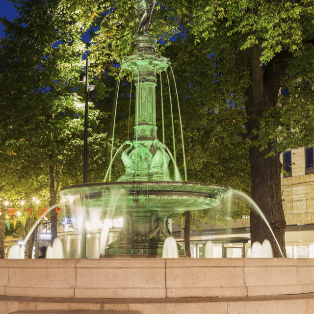 """""""Fountain in the center of Gothenburg"""" stock image"""