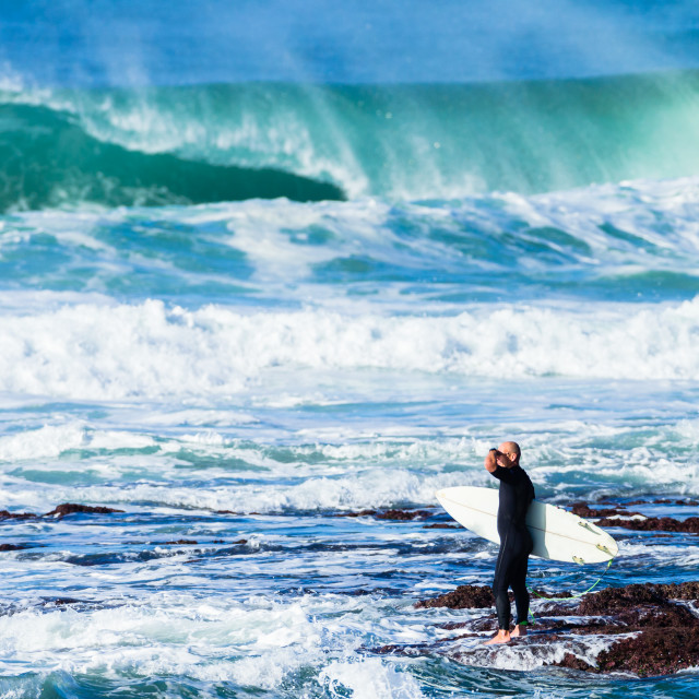 """Surfer Waves Rock Entry"" stock image"