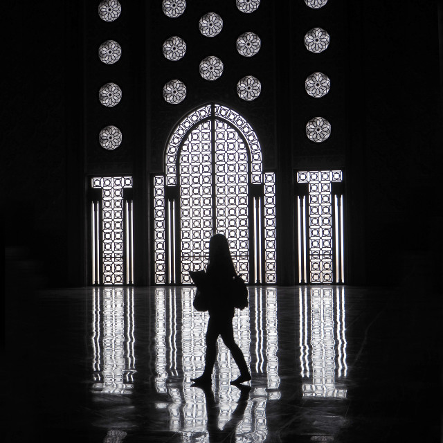 """""""Inside the Hassan II Mosque, Casablanca, Morocco, North Africa"""" stock image"""