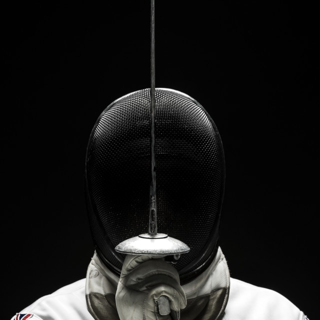 """The Fencer"" stock image"