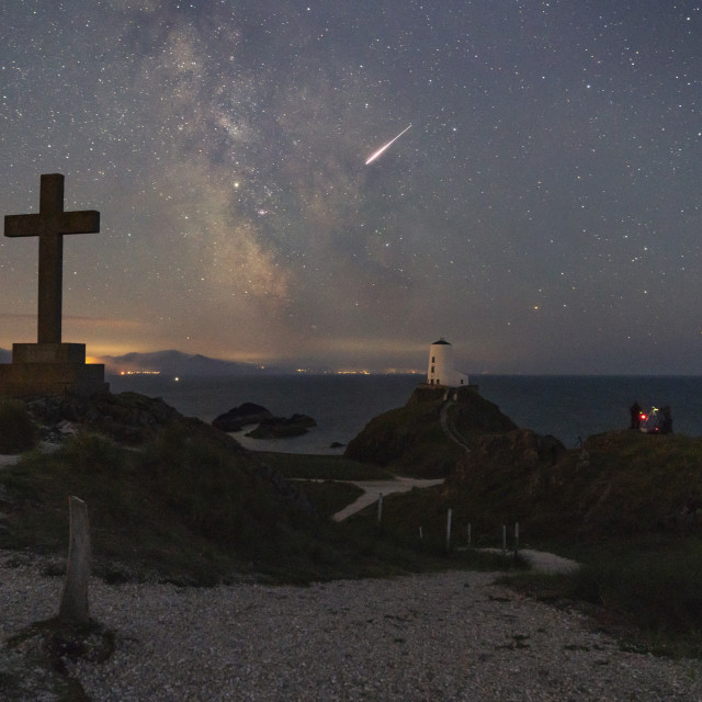 """""""star gazing north Wales Anglesey"""" stock image"""