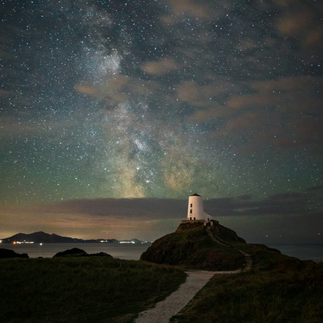 """""""Milkyway Lighthouse Anglesey"""" stock image"""